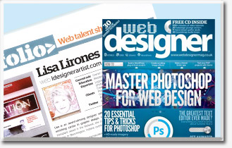 Lisa Lirones appears in Web Designer Magazine
